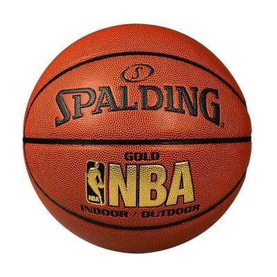 斯伯丁NBA LOGO金色经典篮球