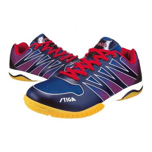 斯蒂卡CS-3641蓝色一体成型乒乓球鞋
