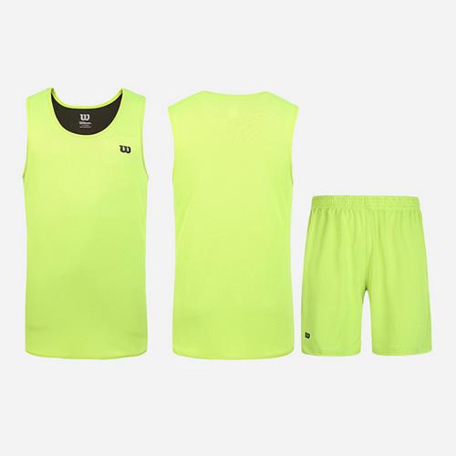 威尔胜双面穿透气吸汗篮球服套装图4高清图片
