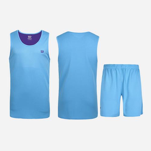 威尔胜双面穿透气吸汗篮球服套装图3高清图片