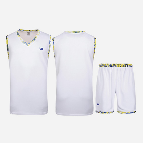威尔胜吸汗透气无袖篮球服套装图2高清图片