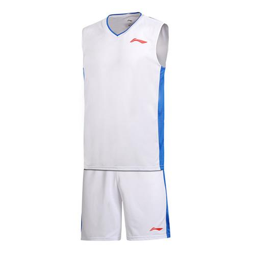 李宁时尚简洁男子篮球服套装