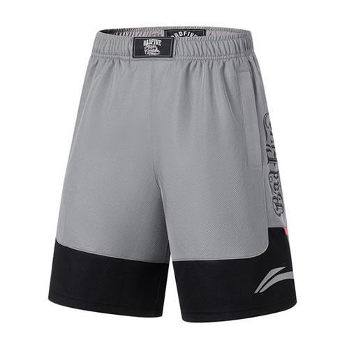 李宁简洁速干男子篮球裤