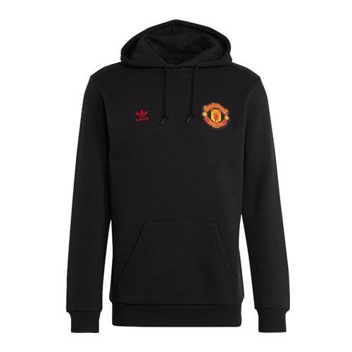 阿迪达斯曼联传奇墨水蓝男子长袖足球服图1高清图片