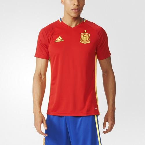 阿迪达斯西班牙男子短袖足球训练服