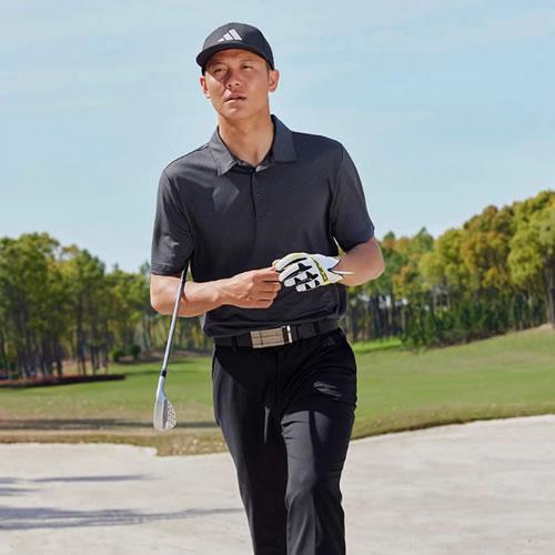 阿迪达斯BC3133男子高尔夫短袖Polo衫