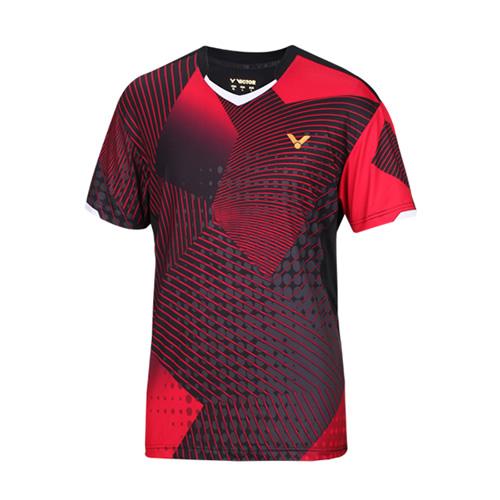 胜利T-5005羽毛球针织圆领短袖T恤