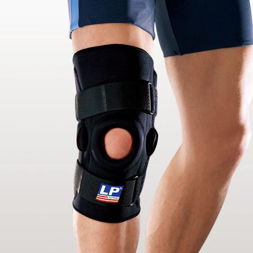 欧比710双枢纽式钢片膝关节护具