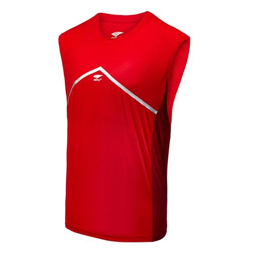 索牌17AM6051男式羽毛球无袖T恤