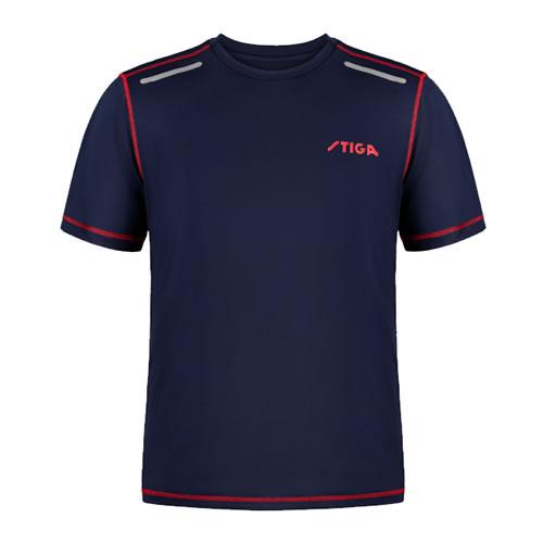 斯蒂卡蓝色拼接乒乓球比赛服