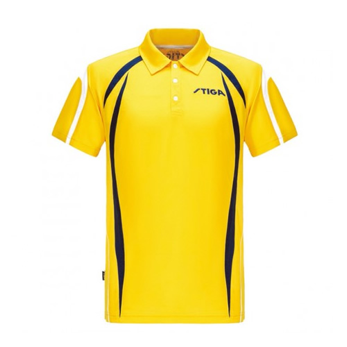 斯蒂卡黄色拼接乒乓球比赛服