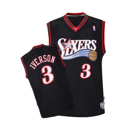 阿迪达斯76人队艾弗森复古篮球服