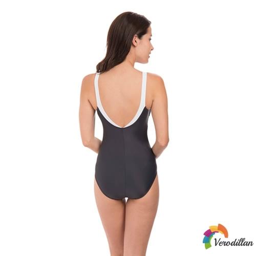 速比涛唯美系列拼色女子连体泳衣图1高清图片