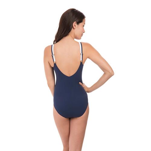 速比涛纤姿系列深蓝优雅女子泳衣图1高清图片