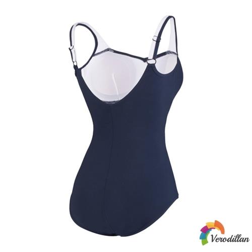 速比涛纤姿系列深蓝优雅女子泳衣图3高清图片