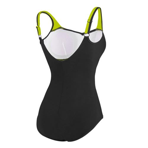 速比涛纤姿系列黑色优雅女子泳衣图3高清图片