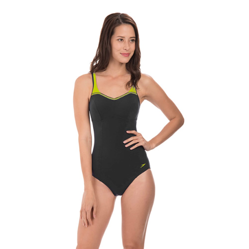 速比涛纤姿系列黑色优雅女子泳衣图2高清图片