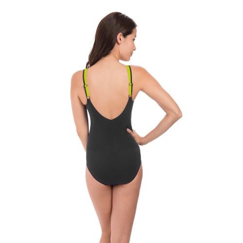速比涛纤姿系列黑色优雅女子泳衣图1高清图片