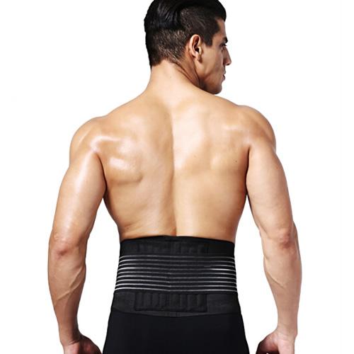劳拉之星LS0801夏季透气加压运动护腰带图1高清图片
