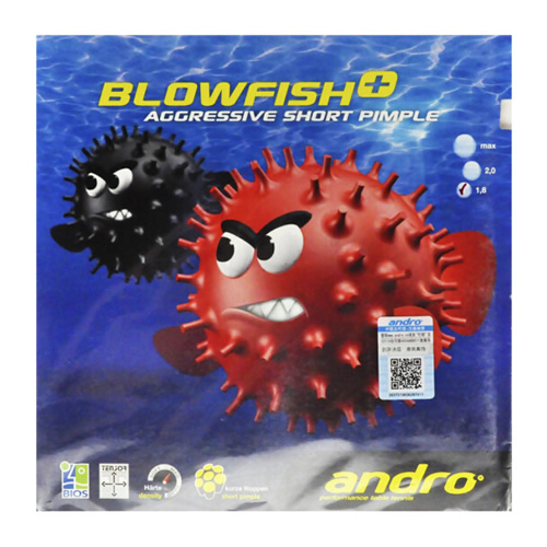 岸度BLOWFISH+毒河豚乒乓球套胶
