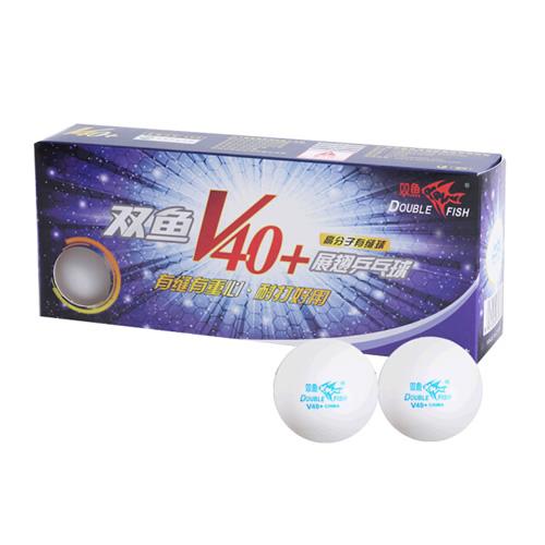 双鱼展翅V40+无星乒乓球