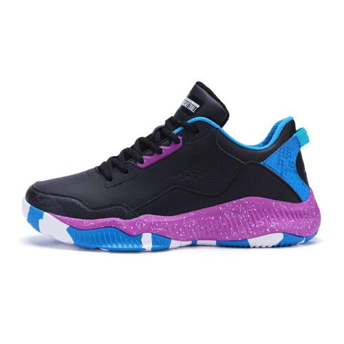 特步982119129075革面减震篮球鞋