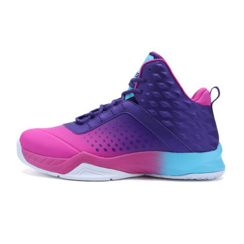 特步983419129075潮流撞色篮球鞋
