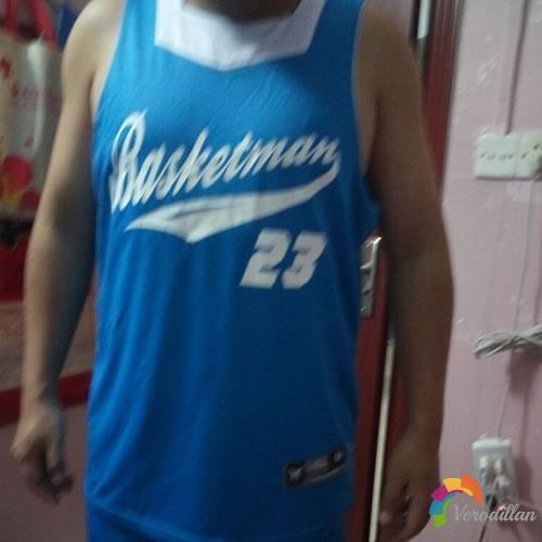 篮人MAN2016B015篮球服套装试用测评