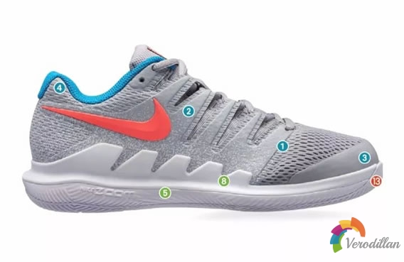 Nike Vapor X网球鞋设计细节剖析