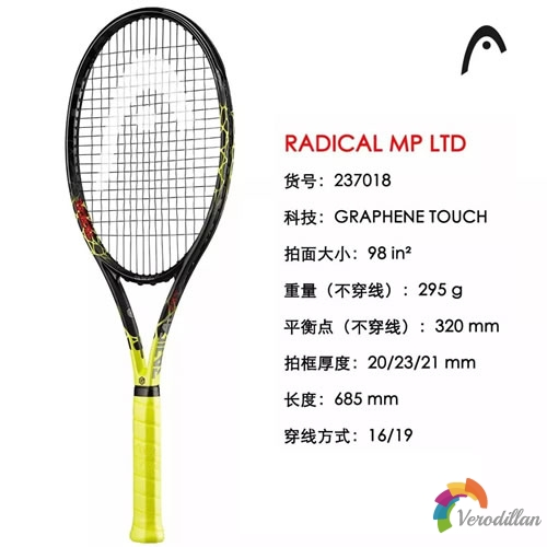 HEAD RADICAL OS LTD复刻版网球拍细节解析