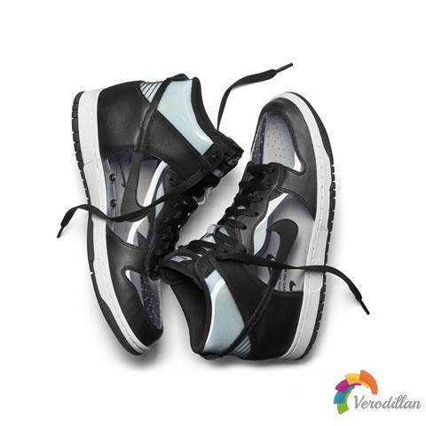 NikeLab Dunk Hi x COMME des GARÇONS设计细节简评