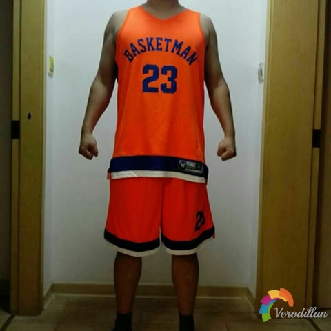 篮人MAN2017B021篮球服套装试用测评