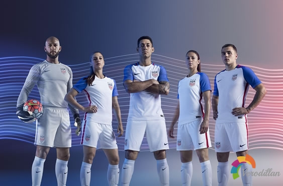 Nike美国男女足国家队球衣设计解读