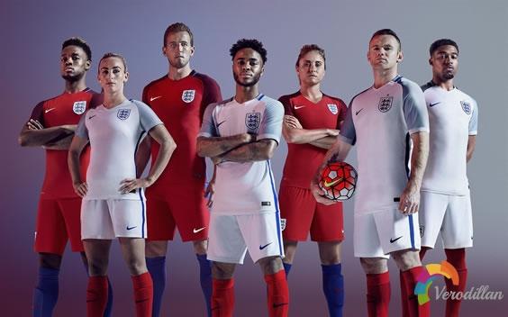 Nike 2016年英格兰国家队主客场球衣设计解读