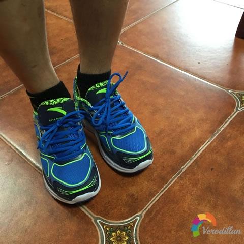 安踏91625515男子厚底跑鞋试用测评图3