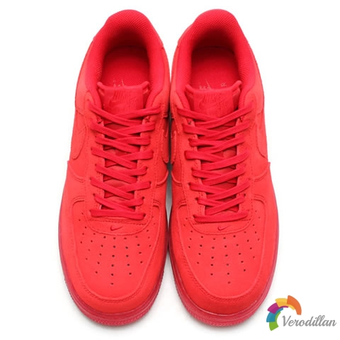 红色经典:Nike Air Force 1 07 LV8 Solar Red发售简评