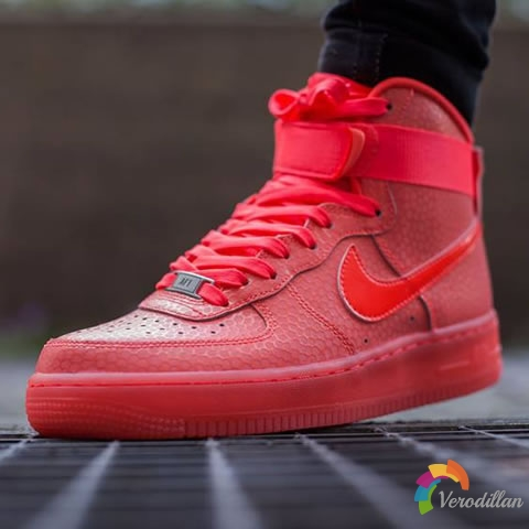 Nike Air Force 1 High Premium Hot Lava发售简评