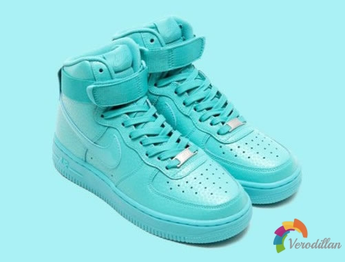 Tiffany配色:Nike WMNS Air Force 1 High PRM发布简评