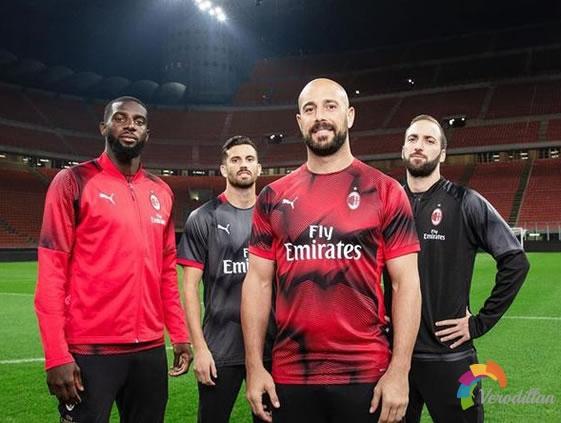 AC米兰2019赛季赛前训练套装发布解读