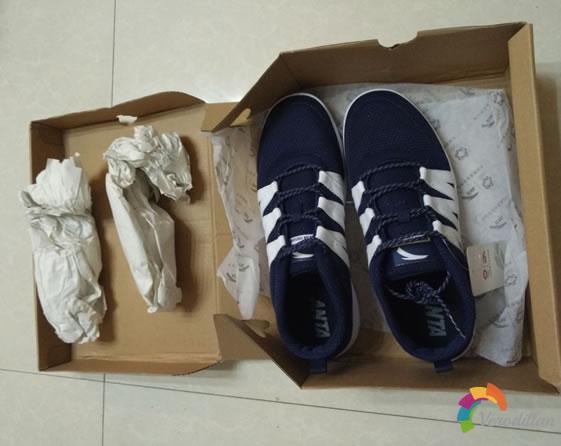 试穿测评:安踏91528014休闲板鞋试用体验图1