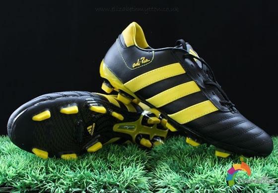 完美舒适性:Adidas adiPure III(黑黄银配色)