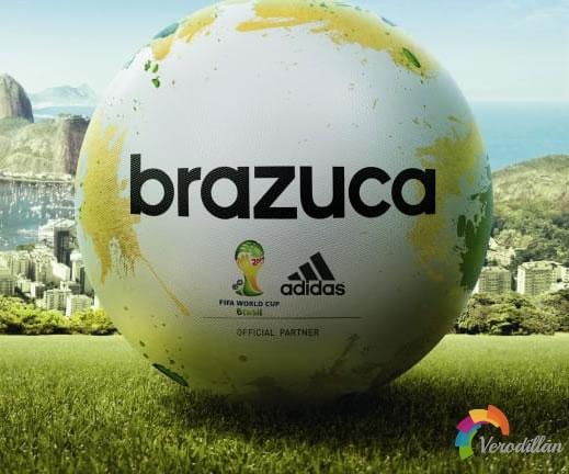 阿迪达斯推出2014巴西世界杯用球BRAZUCA