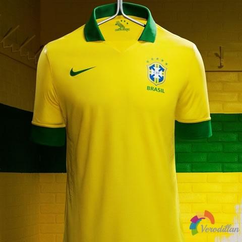 耐克2013-14赛季巴西国家队主场队服设计解读