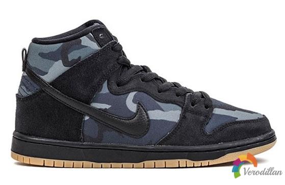 迷彩回归:Nike SB Dunk High Obsidian Camo发售简评