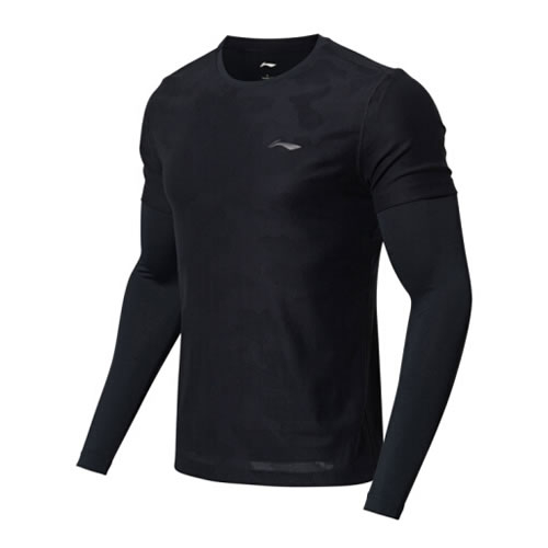 李宁ATLN169男子羽毛球长袖T恤