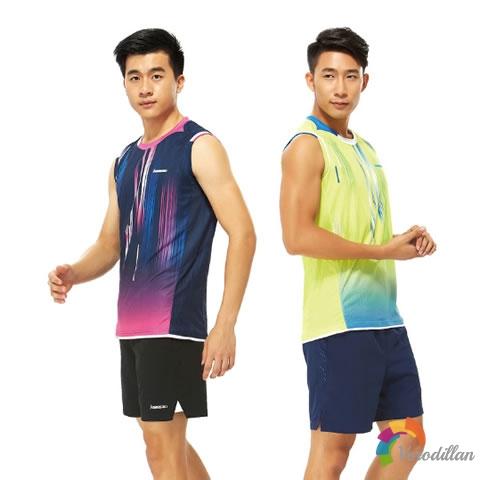 精致拼接:解读川崎ST-171003羽毛球无袖T恤