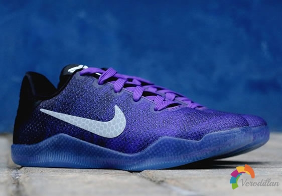 Kobe Bryant第11代签名战靴,标识性低帮设计