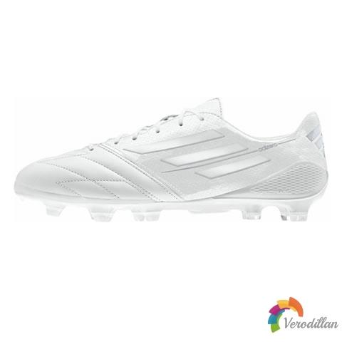 阿迪达斯F50 Adizero Leather全白配色,最纯粹的足球鞋