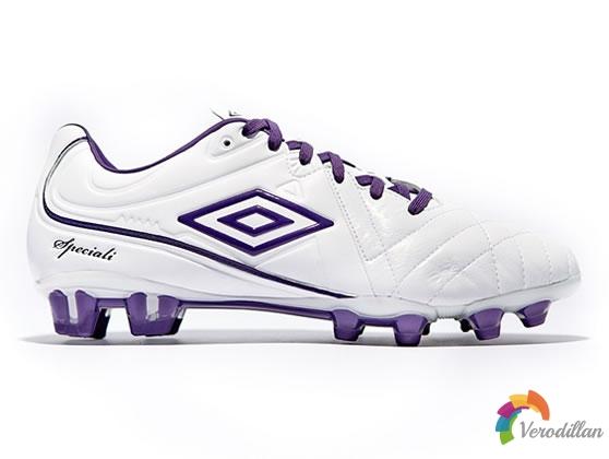 简洁优雅:茵宝Speciali 4白紫配色足球鞋