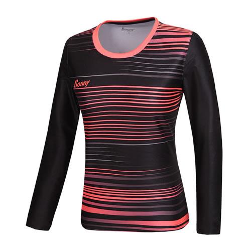 波力1CTL15092女子羽毛球长袖T恤